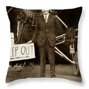 Charles A. Lindbergh And Spirit Of St. Louis 1927 Throw Pillow