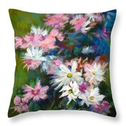 C And D  Cosmos And Daisy That Is Throw Pillow