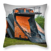C And H Railroad Snowplow Throw Pillow