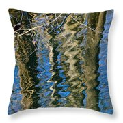 C And O Abstract Throw Pillow
