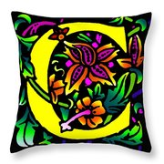 C In Yellow Throw Pillow