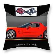 C5 Corvette Zo6 'profile' I Throw Pillow