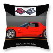 C5 Corvette Zo6 'profile' I Throw Pillow