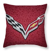 C7 Badge Red Throw Pillow