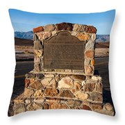 Ca-773 Old Harmony Borax Works Throw Pillow