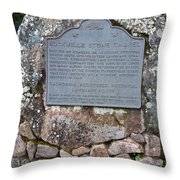 Ca-779 Rockville Stone Chapel Throw Pillow