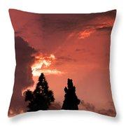 Cloud Anamoly Running Man Throw Pillow