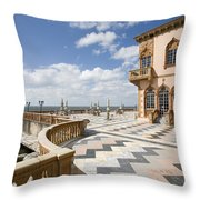 Ca D'zan Mansion Sarasota Throw Pillow