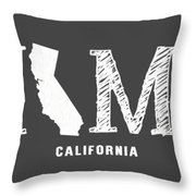Ca Home Throw Pillow by Nancy Ingersoll