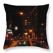 Cab New York Throw Pillow