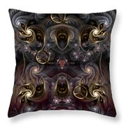 Cabalistic Symmetry Of Q Throw Pillow