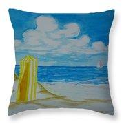 Cabana On The Beach Throw Pillow