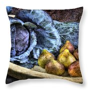 Cabbage And Figs Throw Pillow by Sari Sauls