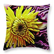 Cabbage And Mum Throw Pillow