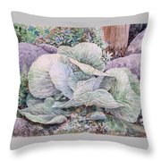 Cabbage Head Throw Pillow