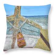 Cabbing Skiff  Throw Pillow