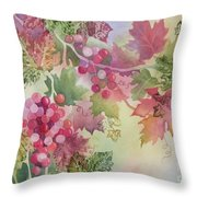 Cabernet Throw Pillow by Deborah Ronglien