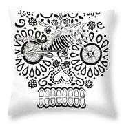 Cabeza De Vaca-cicleta Throw Pillow