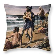 Cabeza De Vaca Expedition Throw Pillow