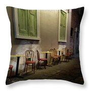 Cabildo Alley Tables Throw Pillow