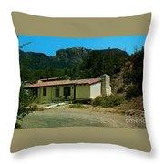 Cabin At Big Bend National Park  Throw Pillow