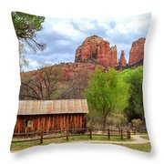 Cabin At Cathedral Rock Throw Pillow
