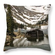 Cabin At Chinns Lake Throw Pillow
