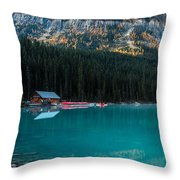 Cabin At The Lake, Throw Pillow