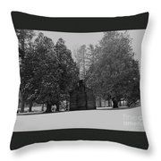 Cabin Between The Cedars Throw Pillow