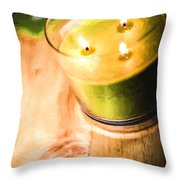 Cabin Candlelight Throw Pillow