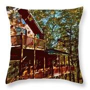 Cabin Cutout Throw Pillow