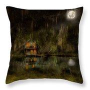 Cabin - De Land, Fl - Restless Night 1904 Throw Pillow