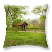 Cabin House Series 1360 Throw Pillow