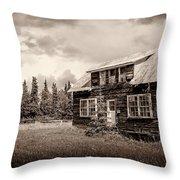 Cabin In Kenai Throw Pillow