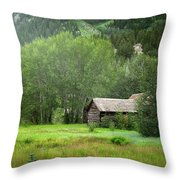Cabin In The Aspens  Throw Pillow