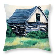 Cabin In The Clearing Throw Pillow