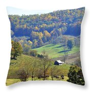 Cabin In The Mountains Throw Pillow