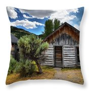 Cabin In The Sagebrush Throw Pillow