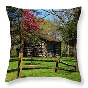 Cabin In The Spring Throw Pillow