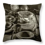 Cabin Kitchen Table Throw Pillow