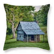 Cabin On The Blue Ridge Parkway - 10 Throw Pillow