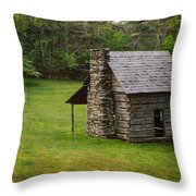 Cabin On The Blue Ridge Parkway - 4 Throw Pillow