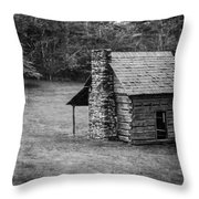 Cabin On The Blue Ridge Parkway - 5 Throw Pillow
