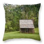 Cabin On The Blue Ridge Parkway - 6 Throw Pillow
