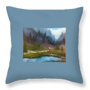 Cabin Retreat Throw Pillow