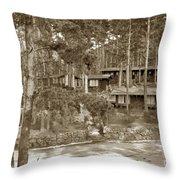 Cabins At Carmel Highlands Inn Circa 1930 Throw Pillow