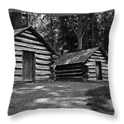 Cabins Of Valley Forge Throw Pillow