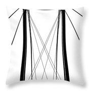 Cable Bridge Abstract Throw Pillow