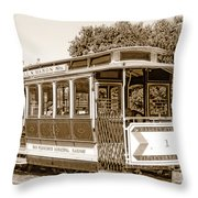 Cable Car Throw Pillow