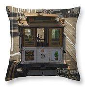 Cable Car Number 6 Throw Pillow